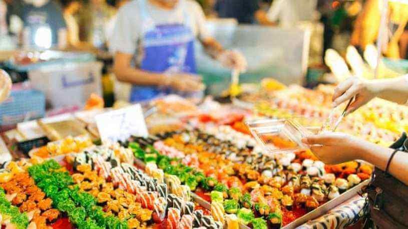 chợ đêm ở Bangkok