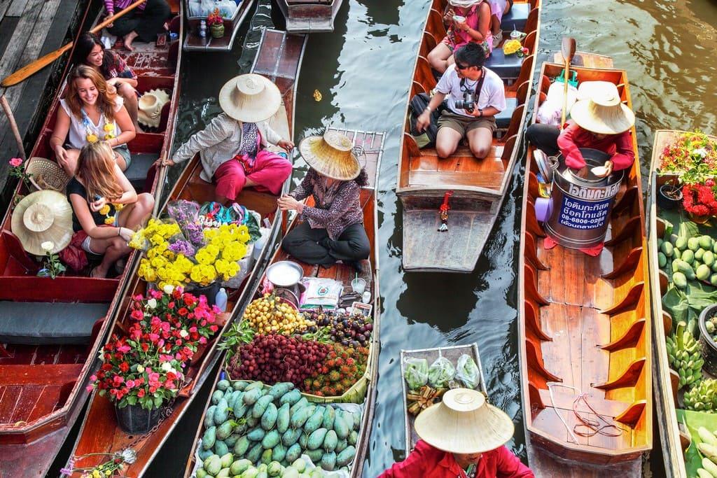 chợ nổi ở bangkok